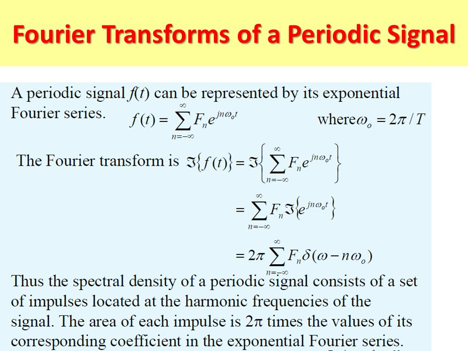 Fourier Transforms of a Periodic Signal