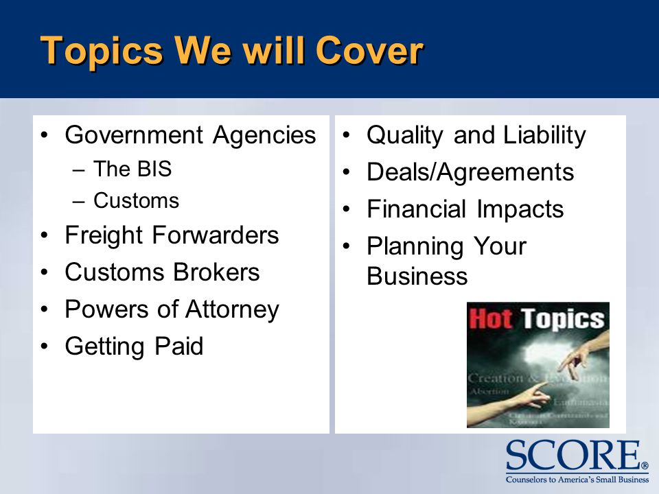 International Business  Ppt Download Topics We Will Cover Government Agencies Freight Forwarders