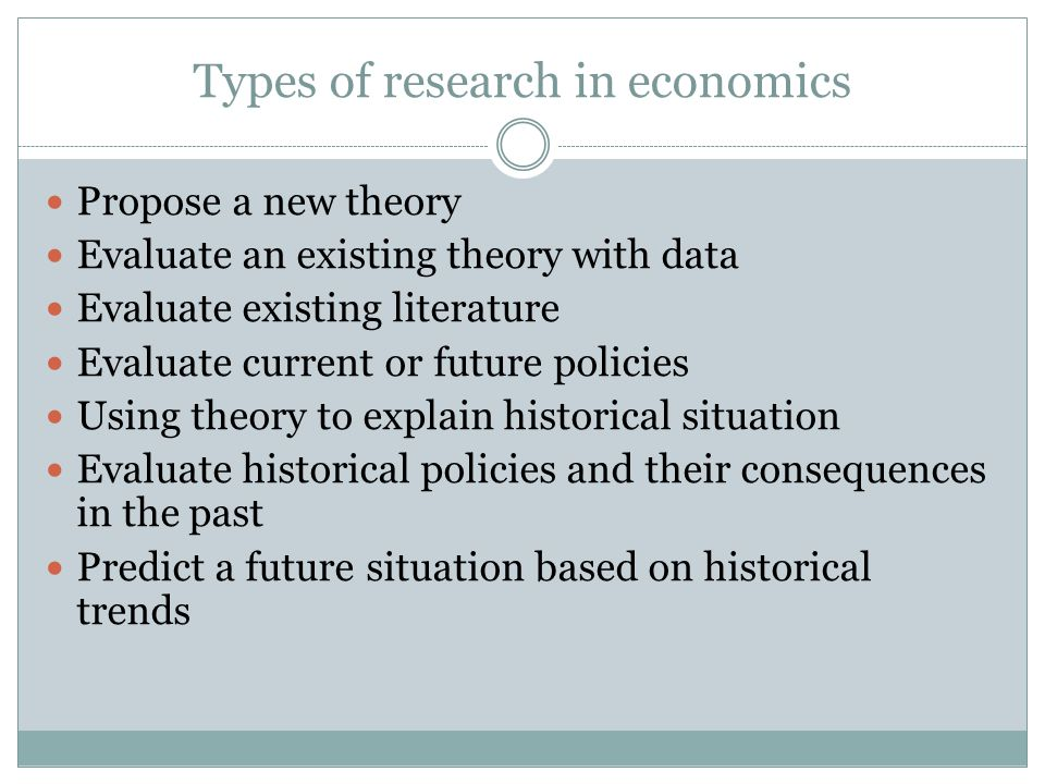 Types of research in economics