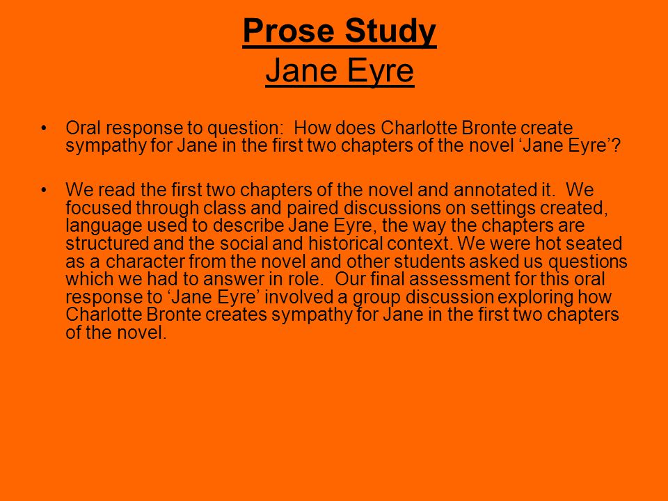 jane eyre first chapter