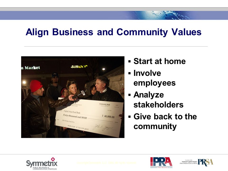 Align Business and Community Values