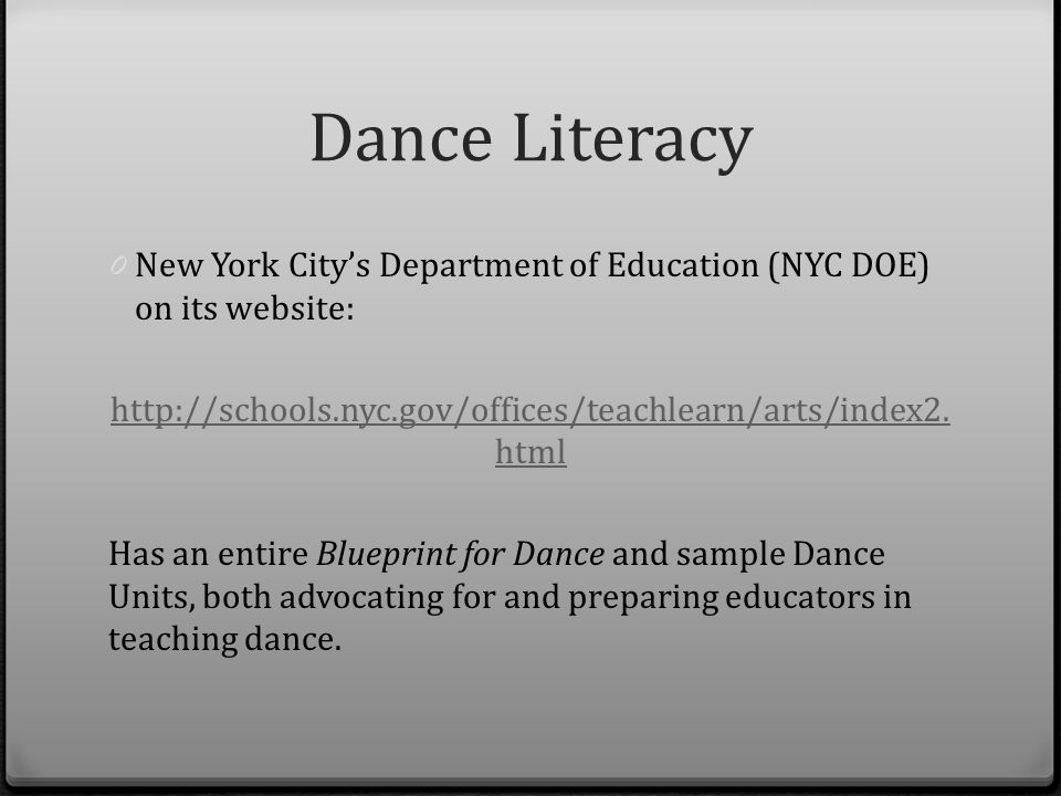 Dance literacy by reina potaznik ppt video online download 10 dance malvernweather Choice Image