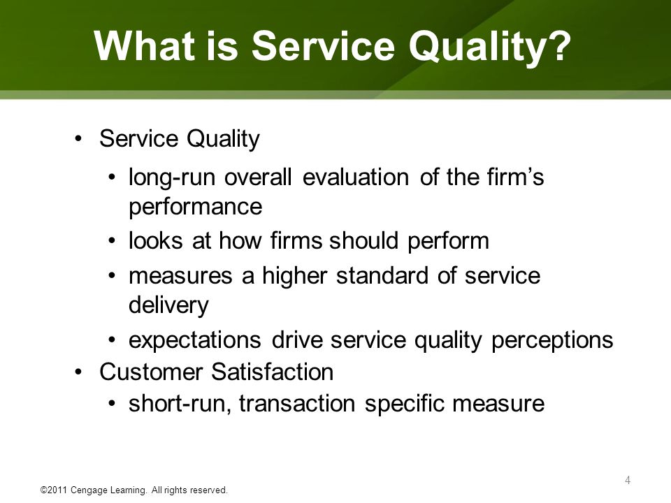 Defining And Measuring Service Quality Ppt Video Online Download