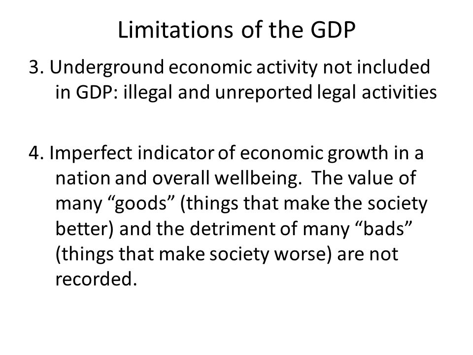 Limitations of the GDP