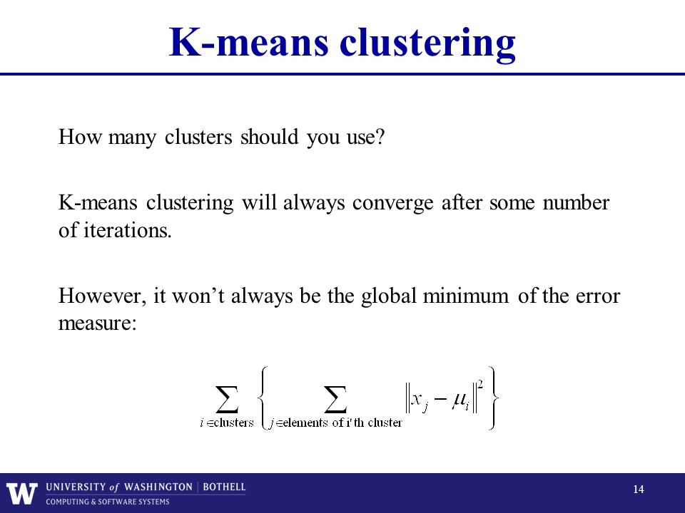 K-means clustering How many clusters should you use