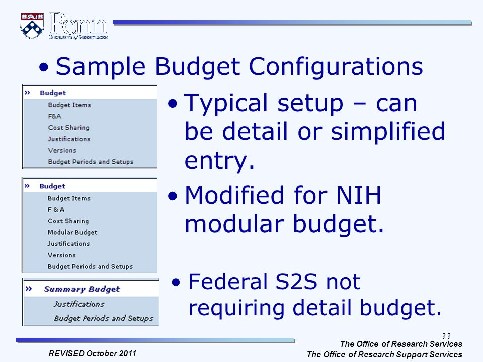 Sponsored Programs at Penn Proposal Budget Preparation, Budgeting ...