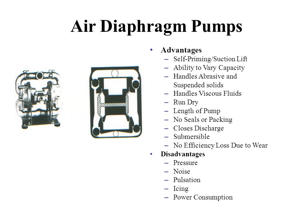 Advanced pump fundamentals agenda ppt video online download air diaphragm pumps advantages self primingsuction lift ccuart Images
