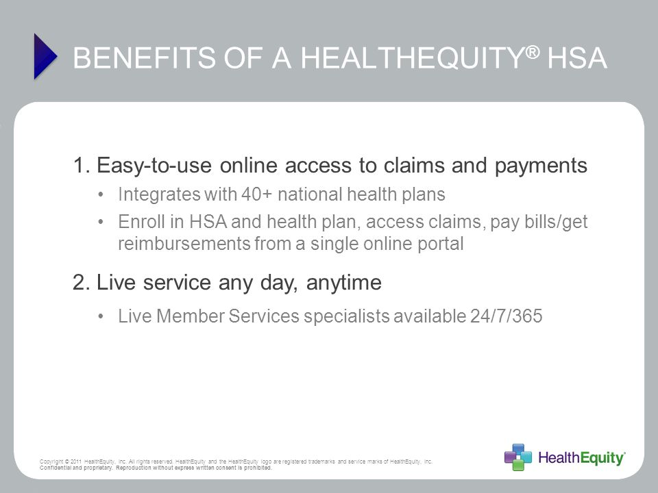 BENEFITS OF A HEALTHEQUITY® HSA