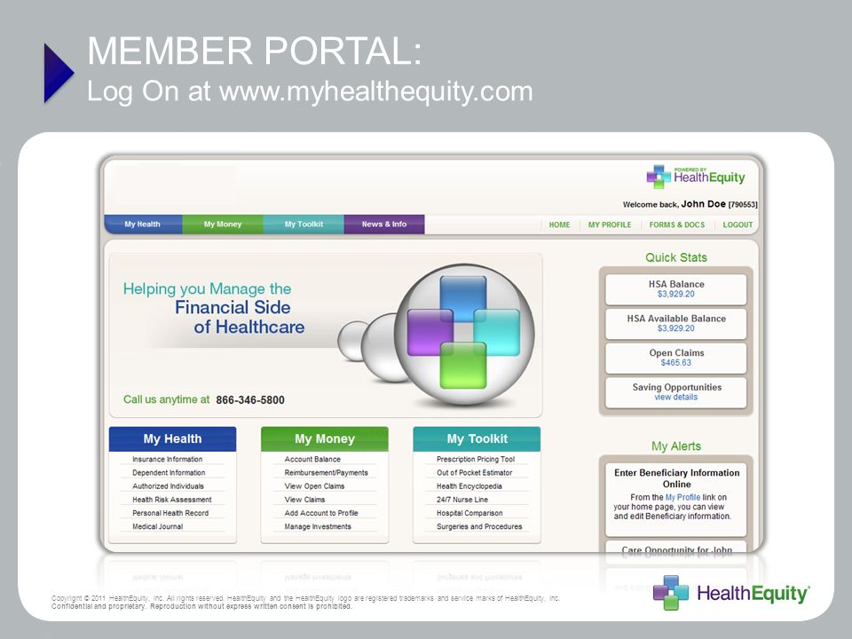 MEMBER PORTAL: Log On at