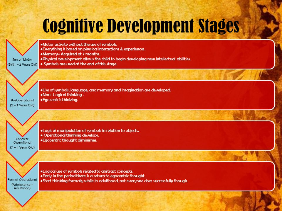 10 Cognitive Development Stages