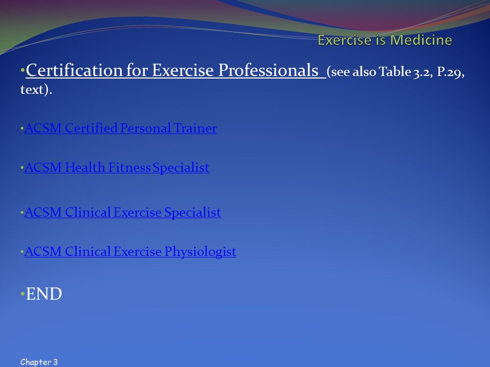 Chapter 5 Exercise Is Medicine Chapter Ppt Video Online Download