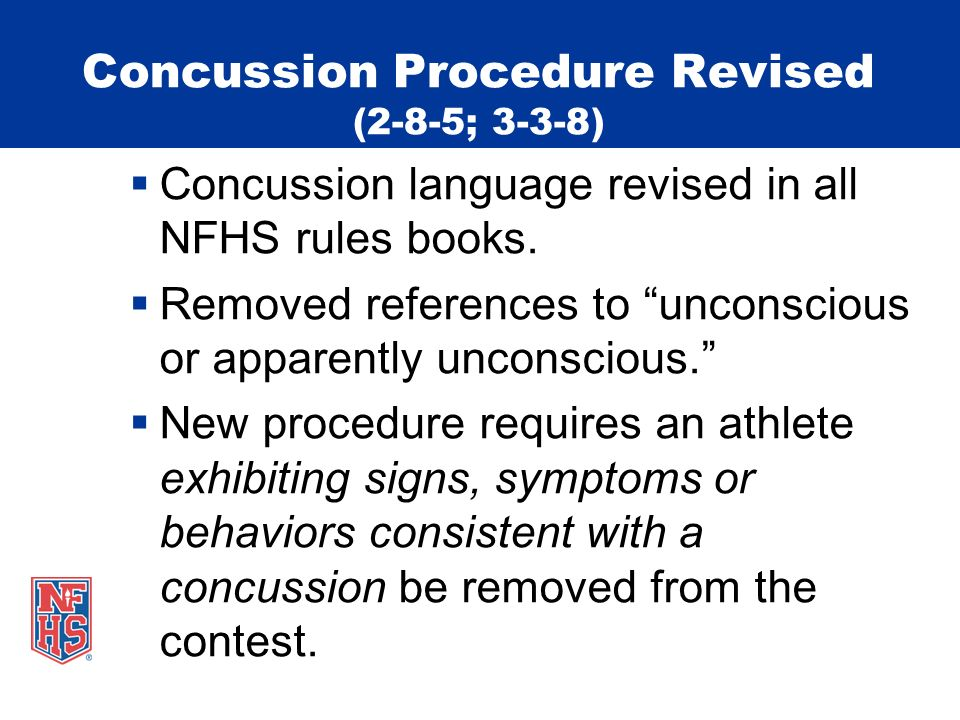 Concussion Procedure Revised (2-8-5; 3-3-8)
