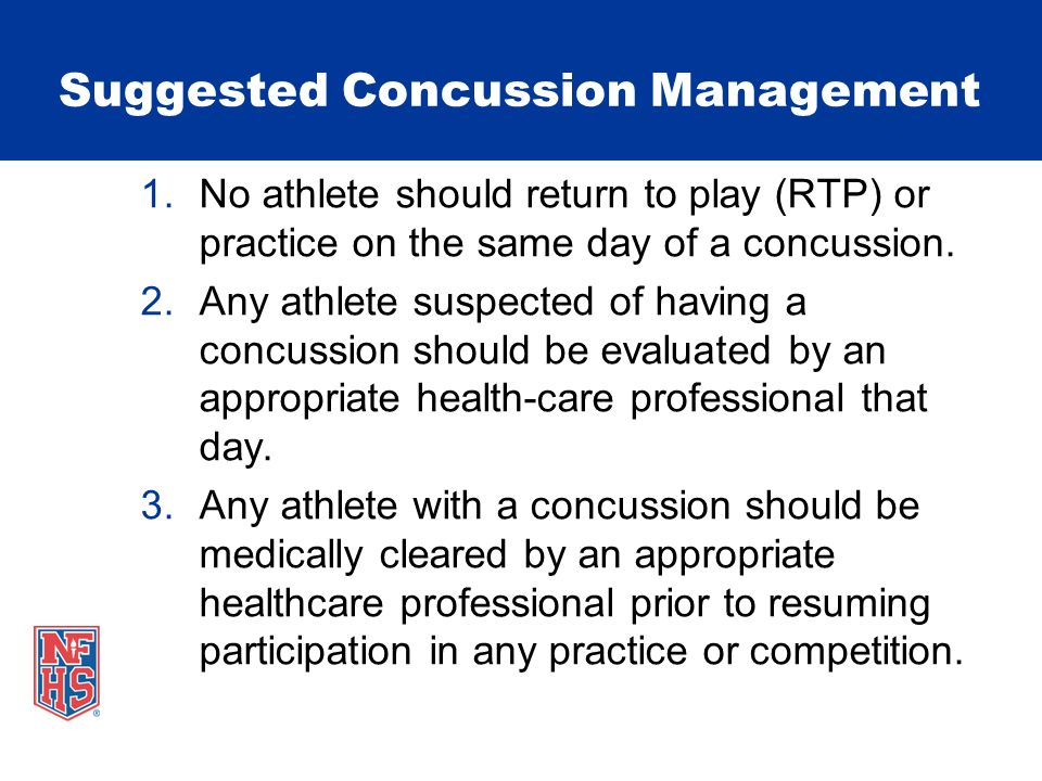 Suggested Concussion Management