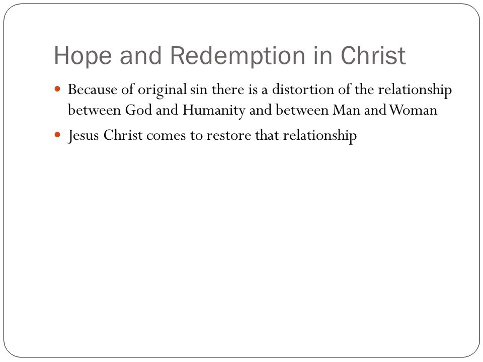 Hope and Redemption in Christ