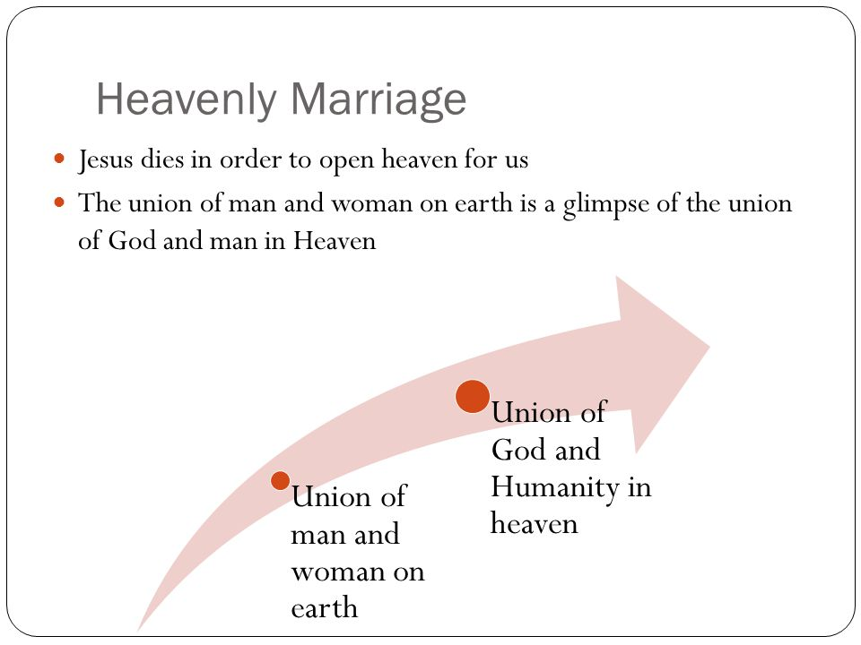 Heavenly Marriage Union of God and Humanity in heaven