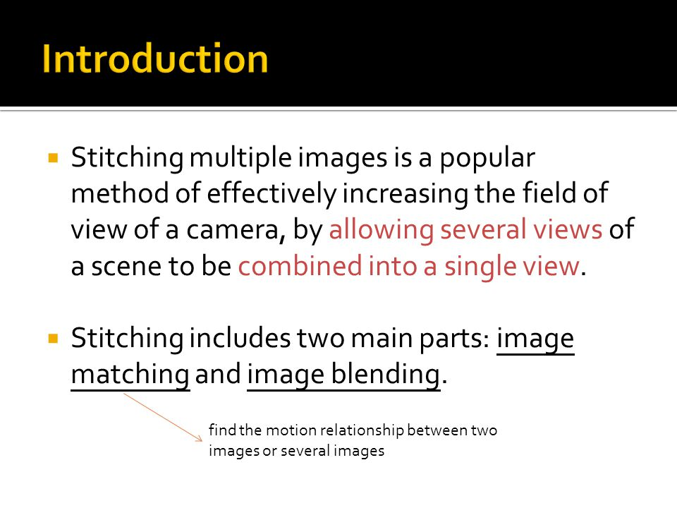 SURF applied in Panorama Image Stitching - ppt video online download