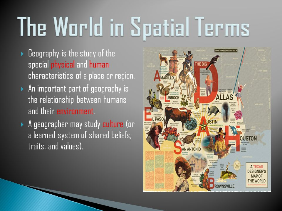 The 6 elements of geography ppt video online download the world in spatial terms publicscrutiny Choice Image