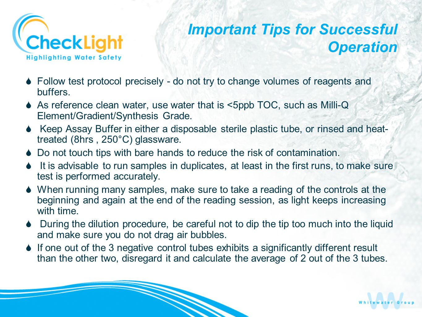 Important Tips for Successful Operation