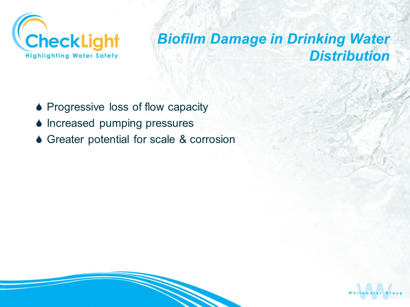 Biofilm Damage in Drinking Water Distribution
