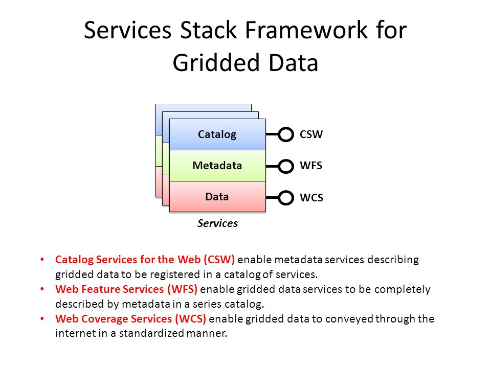 Services Stack Framework for Gridded Data