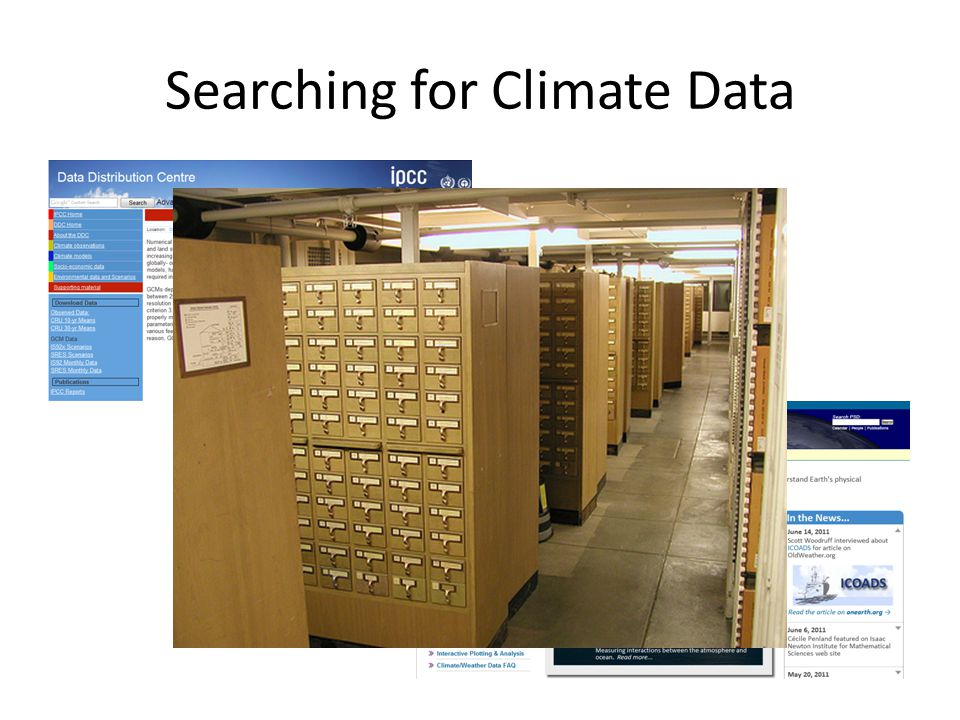 Searching for Climate Data