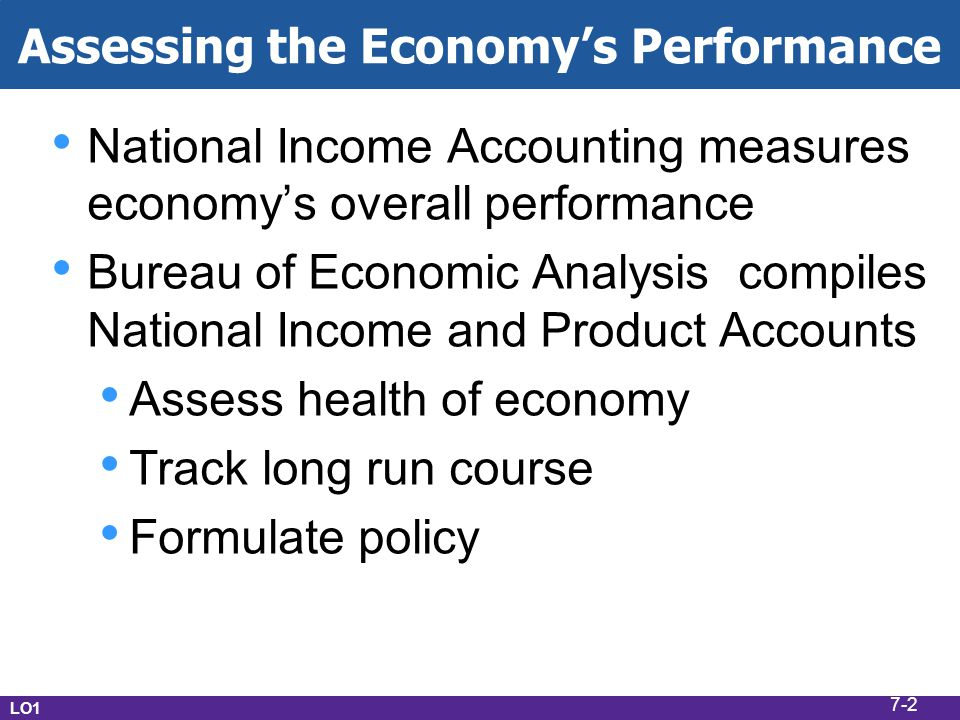 Assessing the Economy's Performance