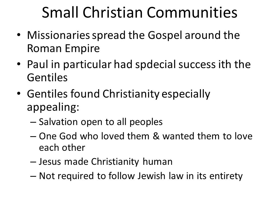 Small Christian Communities