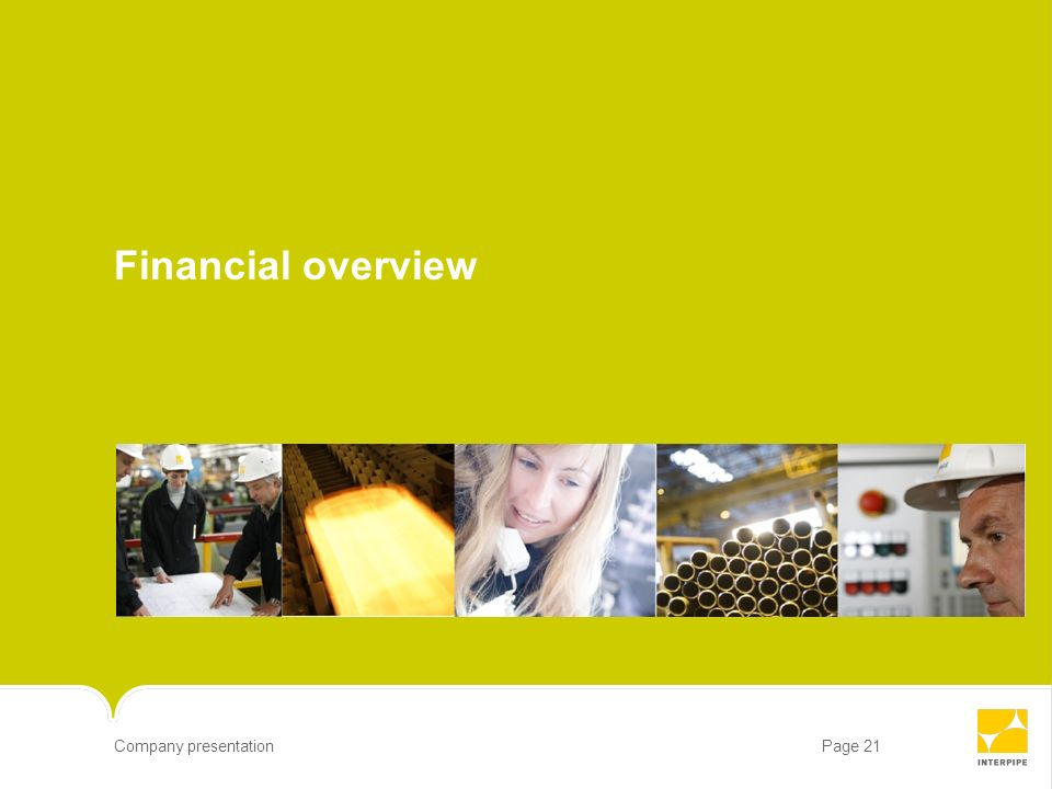 Financial overview 21