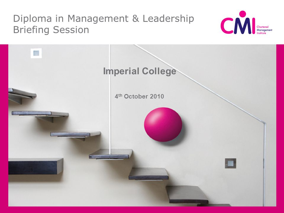 Diploma in Management & Leadership Briefing Session