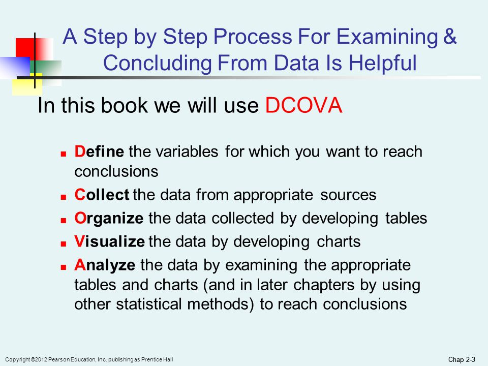 a step by step process for examining concluding from data is helpful