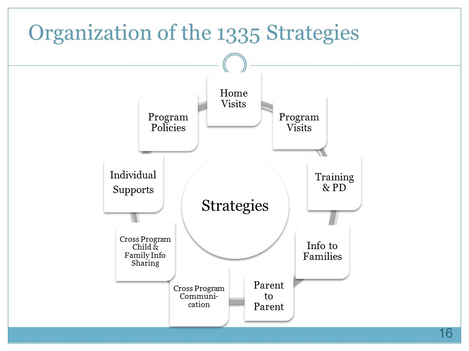 Organization of the 1335 Strategies