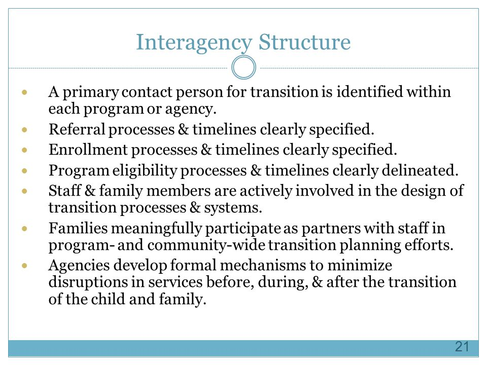 Interagency Structure