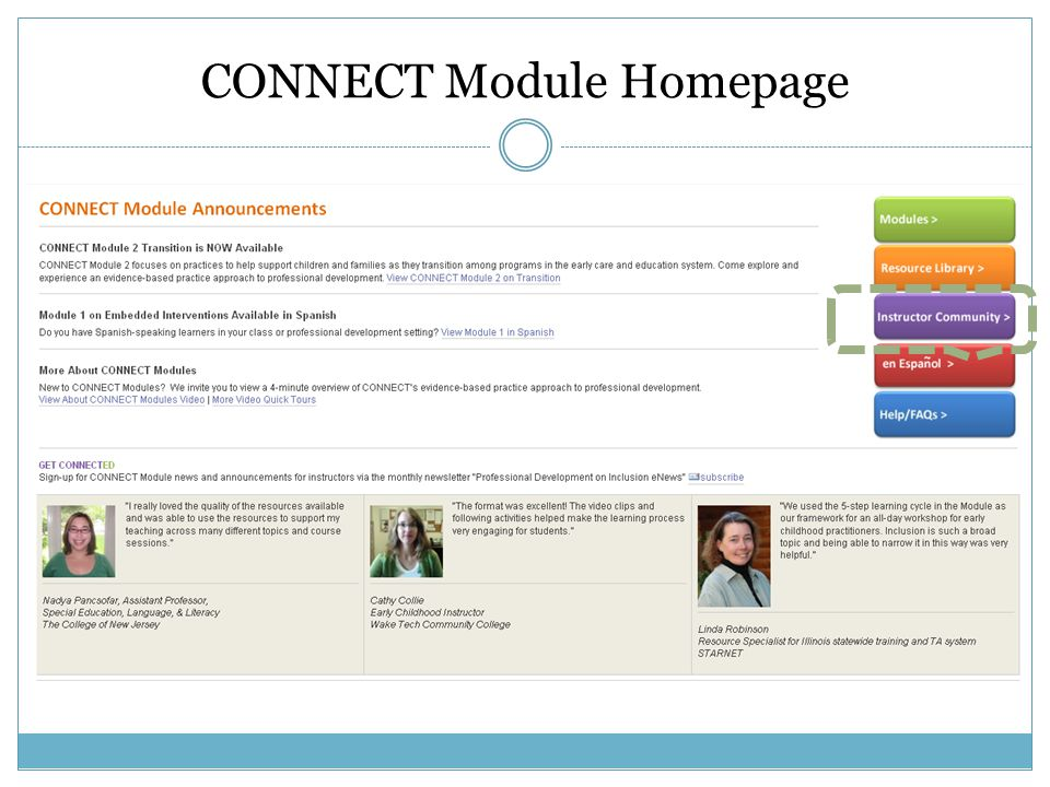 CONNECT Module Homepage