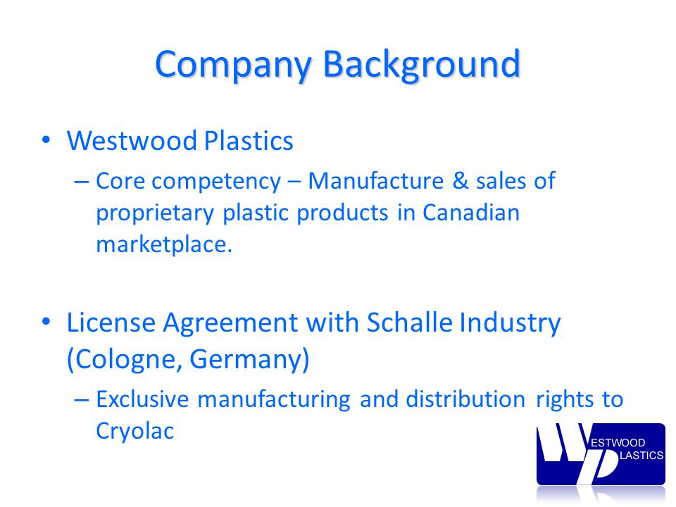 Westwood Plastics Inc Foreign Currency Risk Hedging Strategies