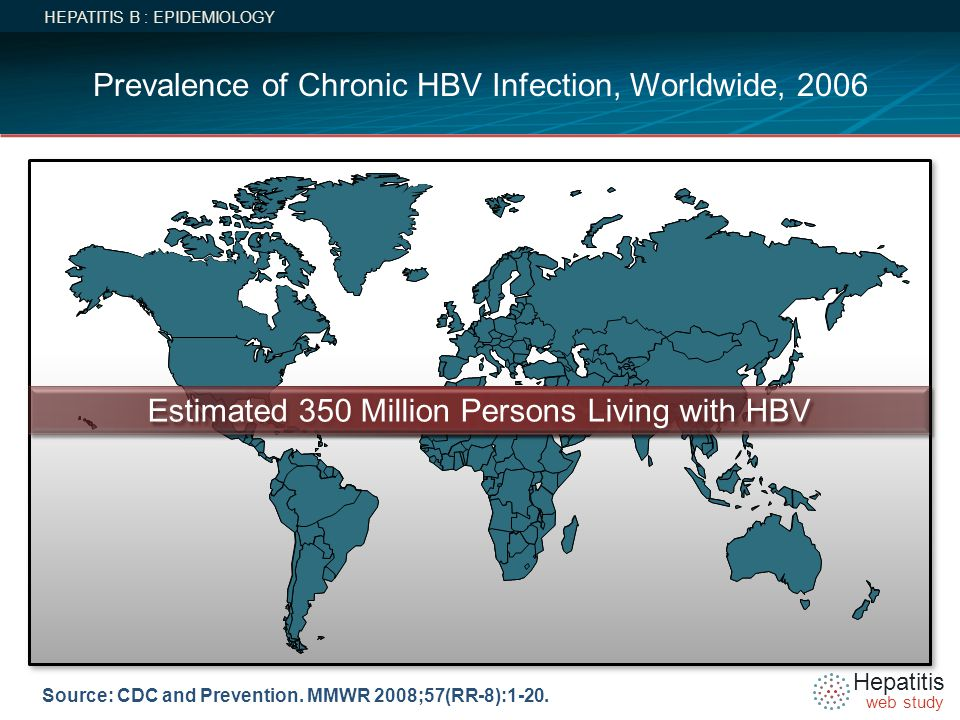 Prevalence of Chronic HBV Infection, Worldwide, 2006