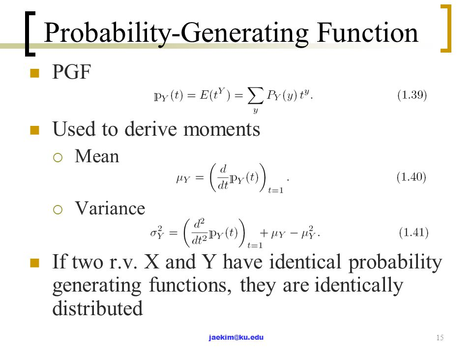 PROBABILITY GENERATING FUNCTIONS PDF DOWNLOAD