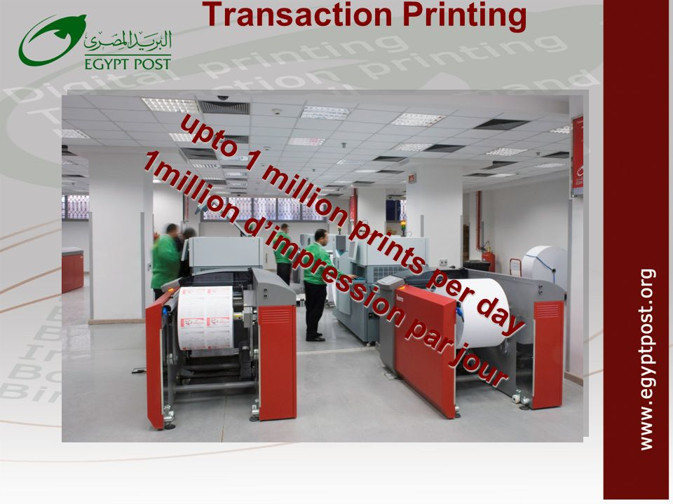 upto 1 million prints per day 1million d'impression par jour
