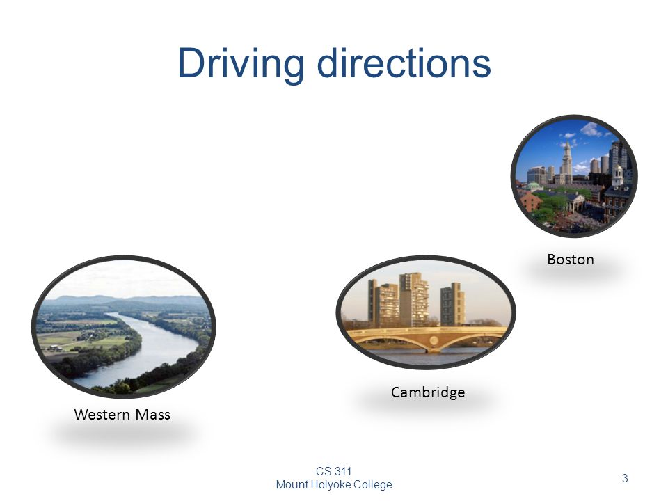 Driving directions Boston Cambridge Western Mass