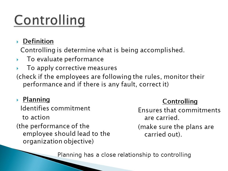 control business types of controlling in management pdf