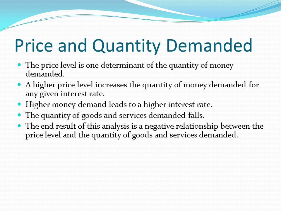 Price and Quantity Demanded
