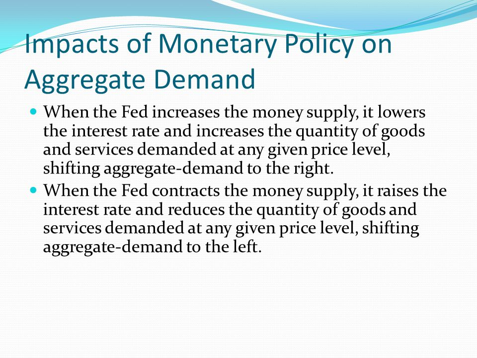 Impacts of Monetary Policy on Aggregate Demand