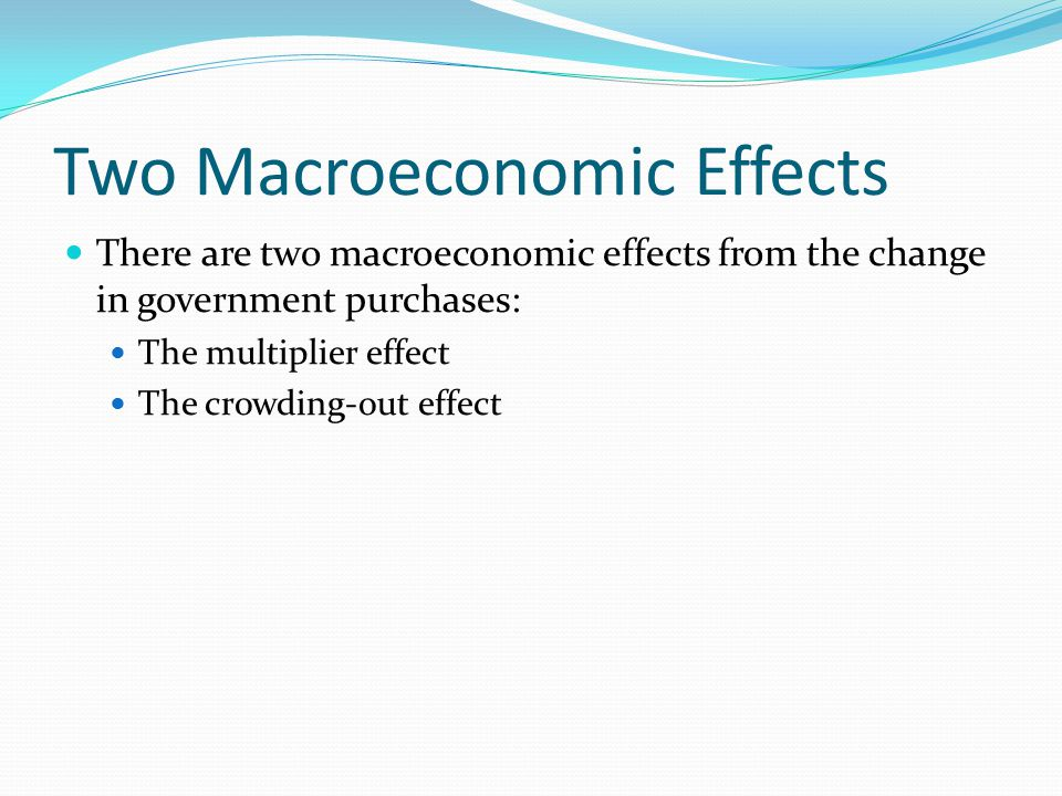 Two Macroeconomic Effects
