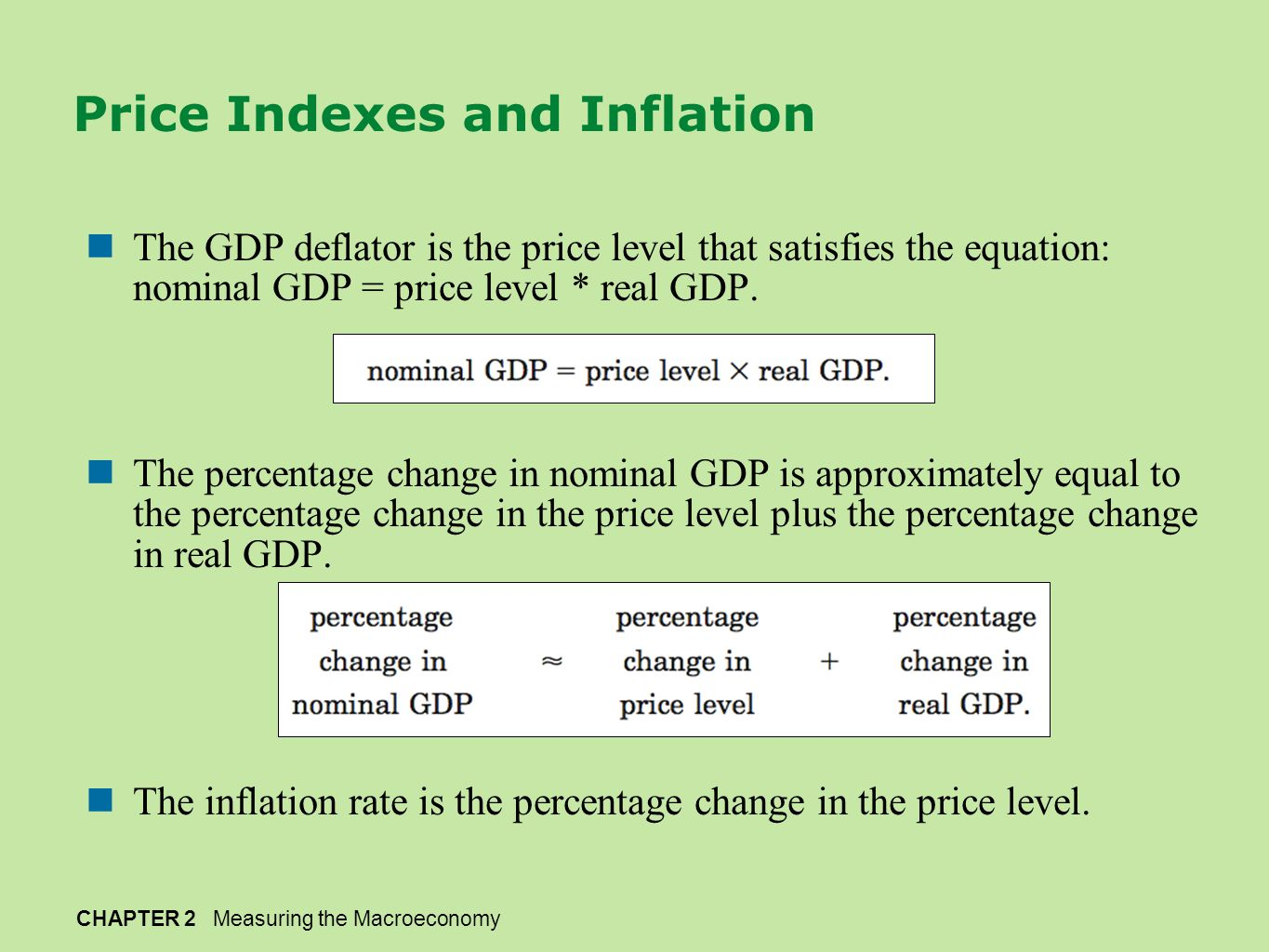 Price Indexes and Inflation