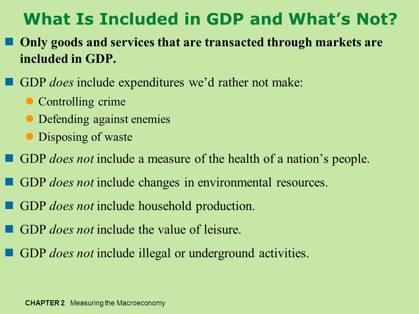 What Is Included in GDP and What's Not