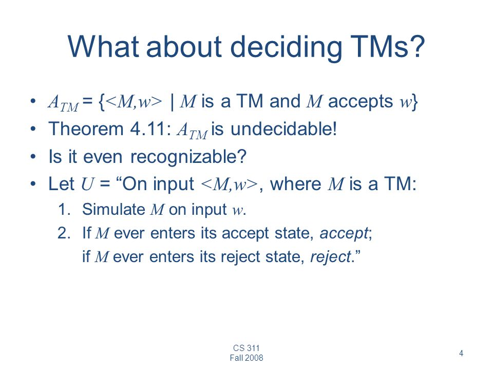What about deciding TMs