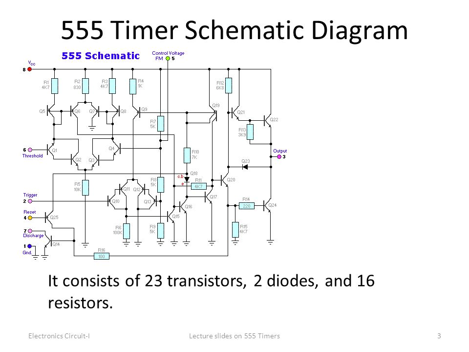 555 Timer Schematic Diagram