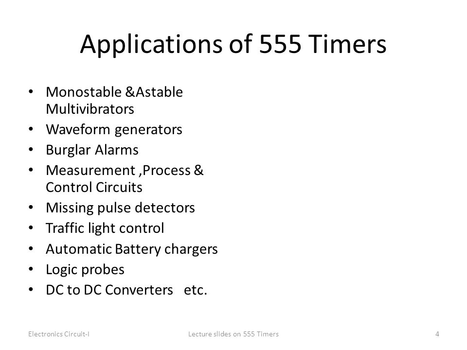 Applications of 555 Timers