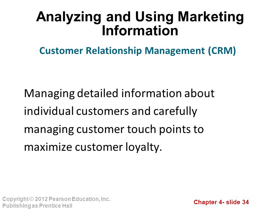 Analyzing and Using Marketing Information