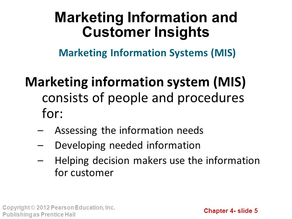 Marketing Information and Customer Insights