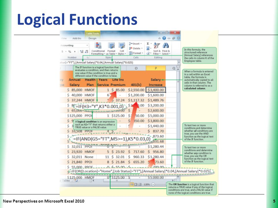 Logical Functions New Perspectives on Microsoft Excel 2010